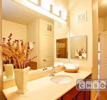 Tiled bath, separate shower