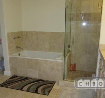 Five piece bathroom with shower & tub