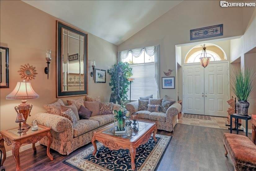 View of formal living room.