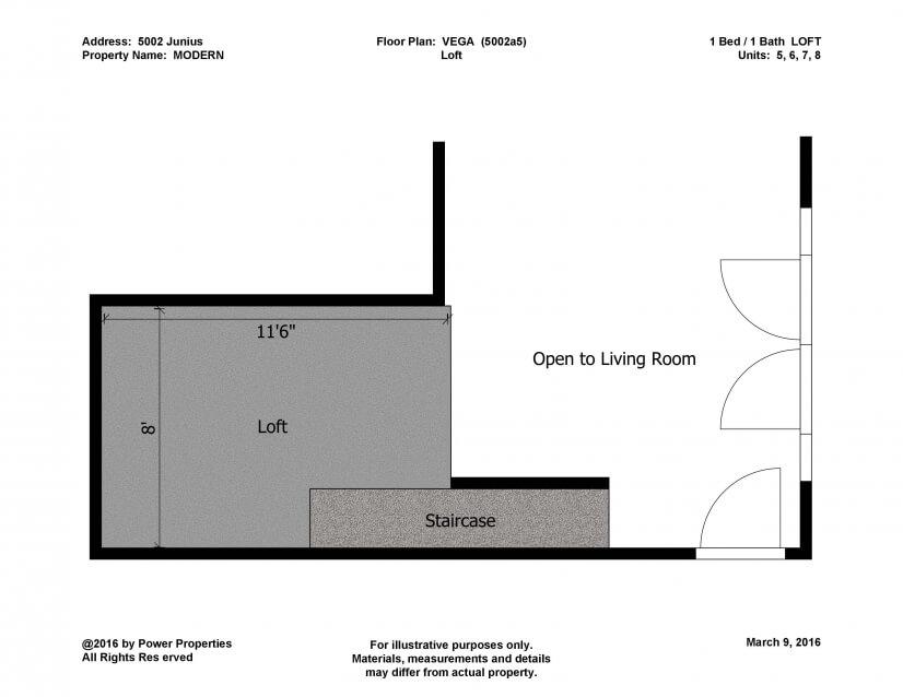 Second Level Loft Floor Plan