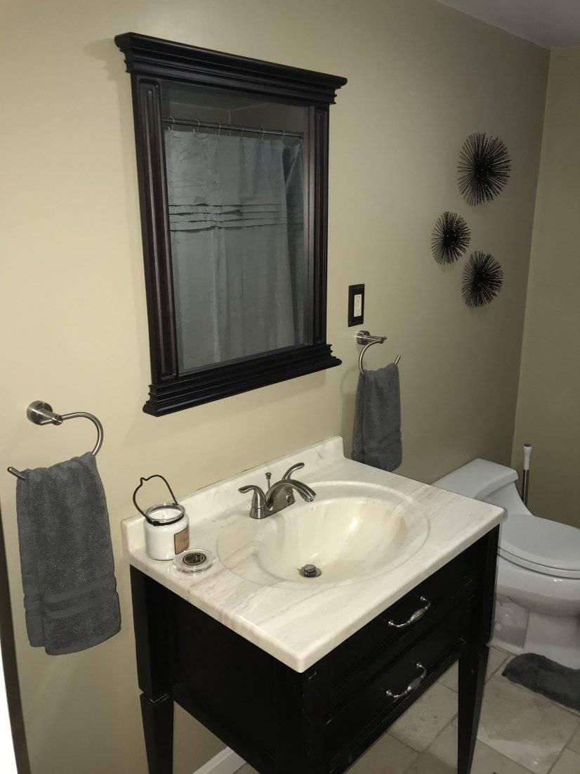 Bathroom vanity.