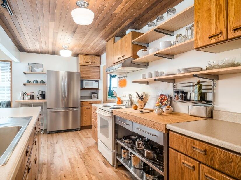 Newly remodeled modern custom kitchen