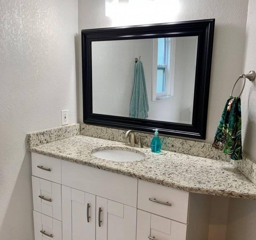 Master bathroom vanity with lots of storage