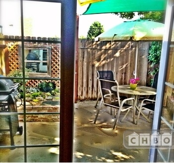 French Doors lead to your own patio