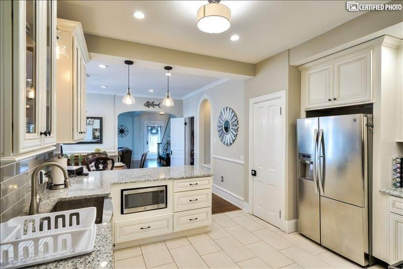 Kitchen Toward Dining and Living Areas