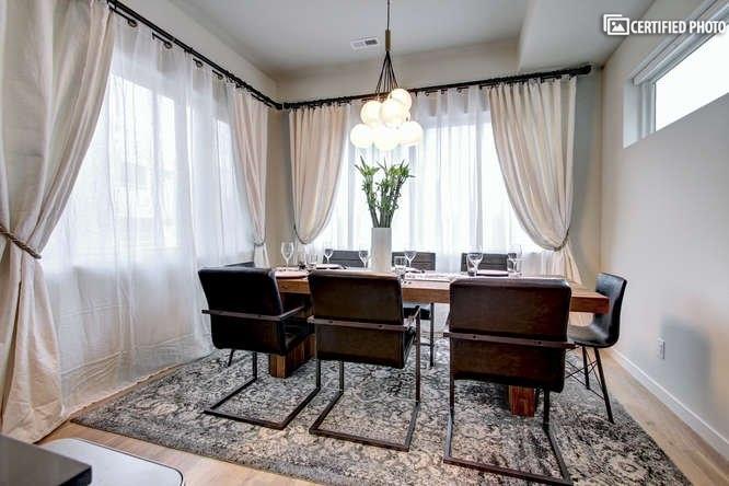 Impressive dining area