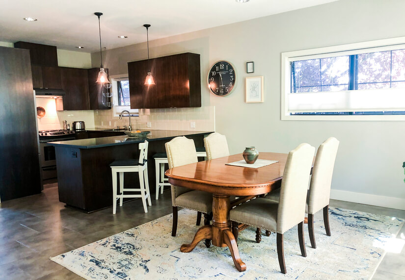 First Floor Dining Room and Kitchen
