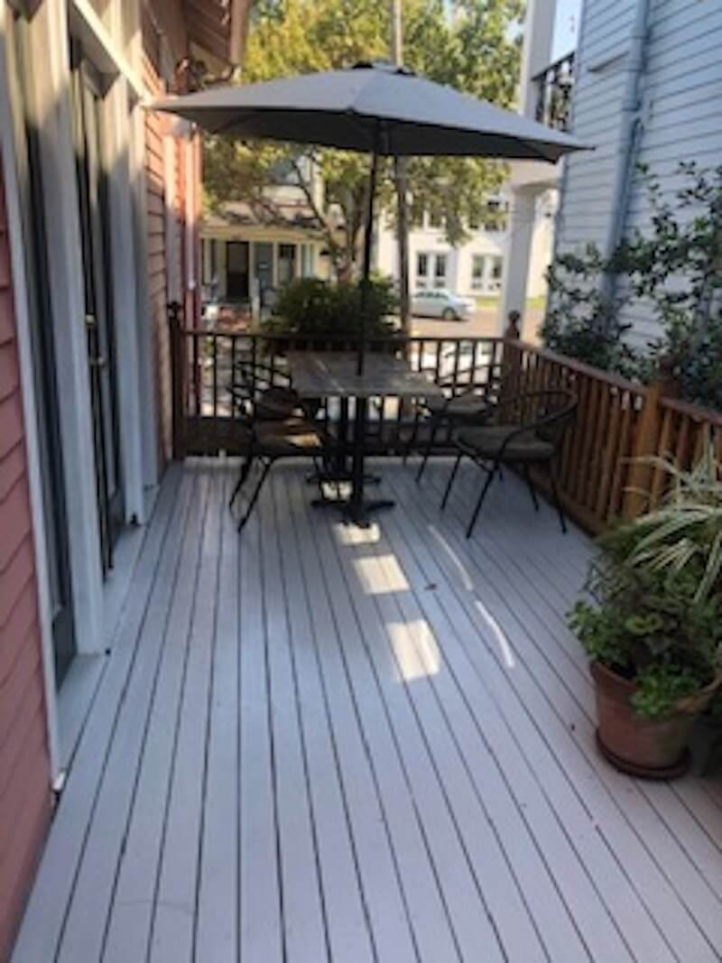 Deck off of living-dining rm