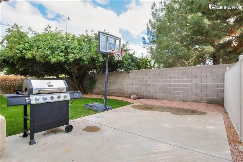 BBQ Grill/Basketball Hoop
