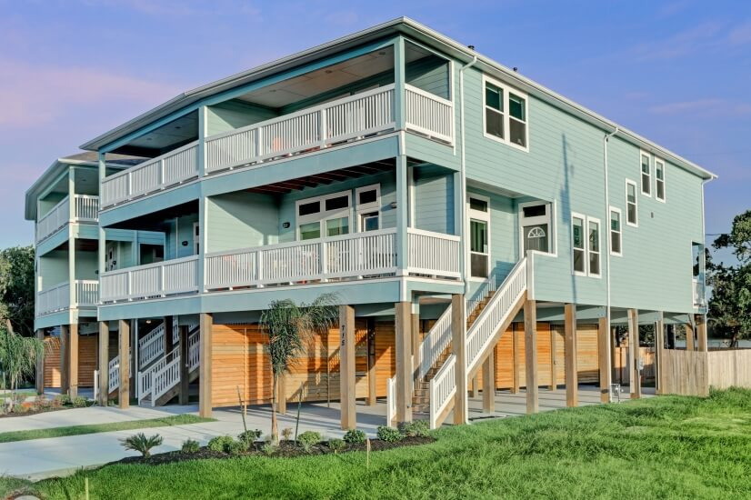 This stilt town home is practically brand new built in 2017