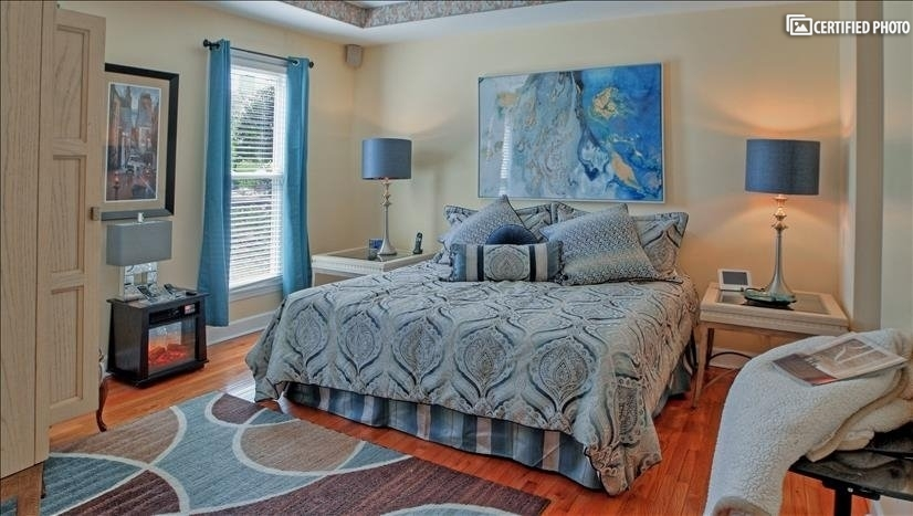 Master bedroom waiting for you to unwind.