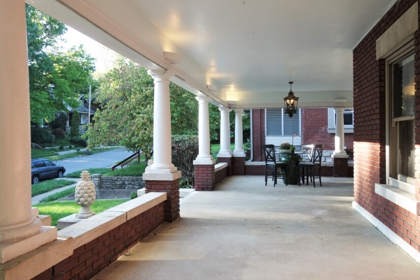 Expansive Veranda with Breakfast Table