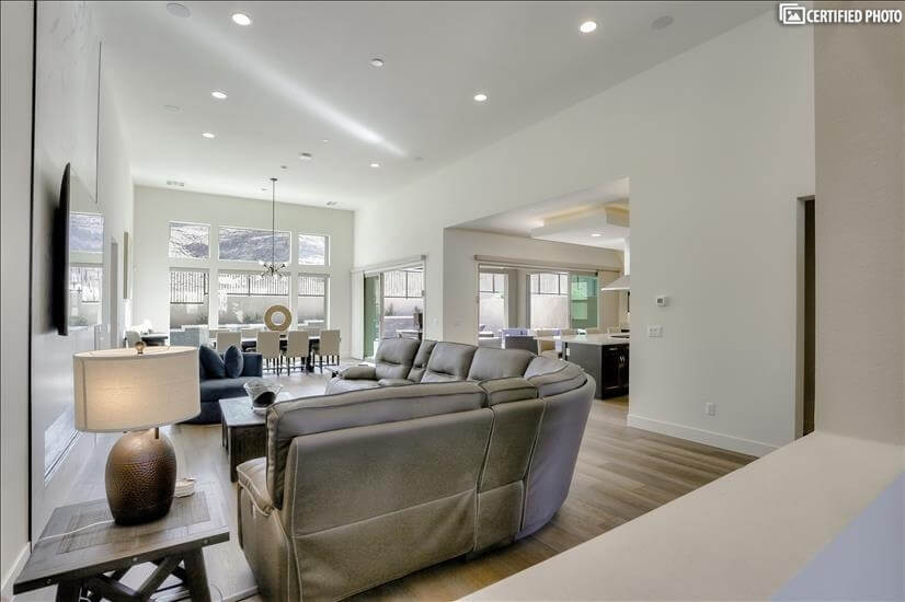 Unique OPEN Concept Floor plan with 14 foot ceilings, Views!