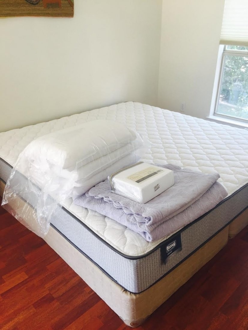Brand new sheets & towels for every guest. Good mattresses.