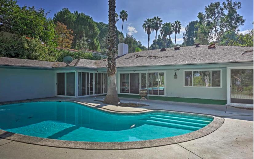 yard + pool