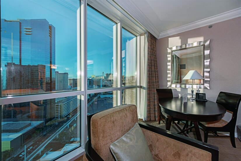 Exterior view of Linq from inside unit