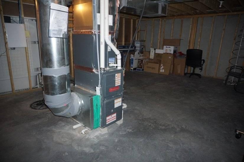 Basement Furnace/Storage Space