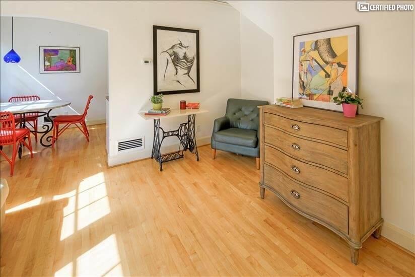 Beautiful Refinished Maple Hardwood Floors Throughout