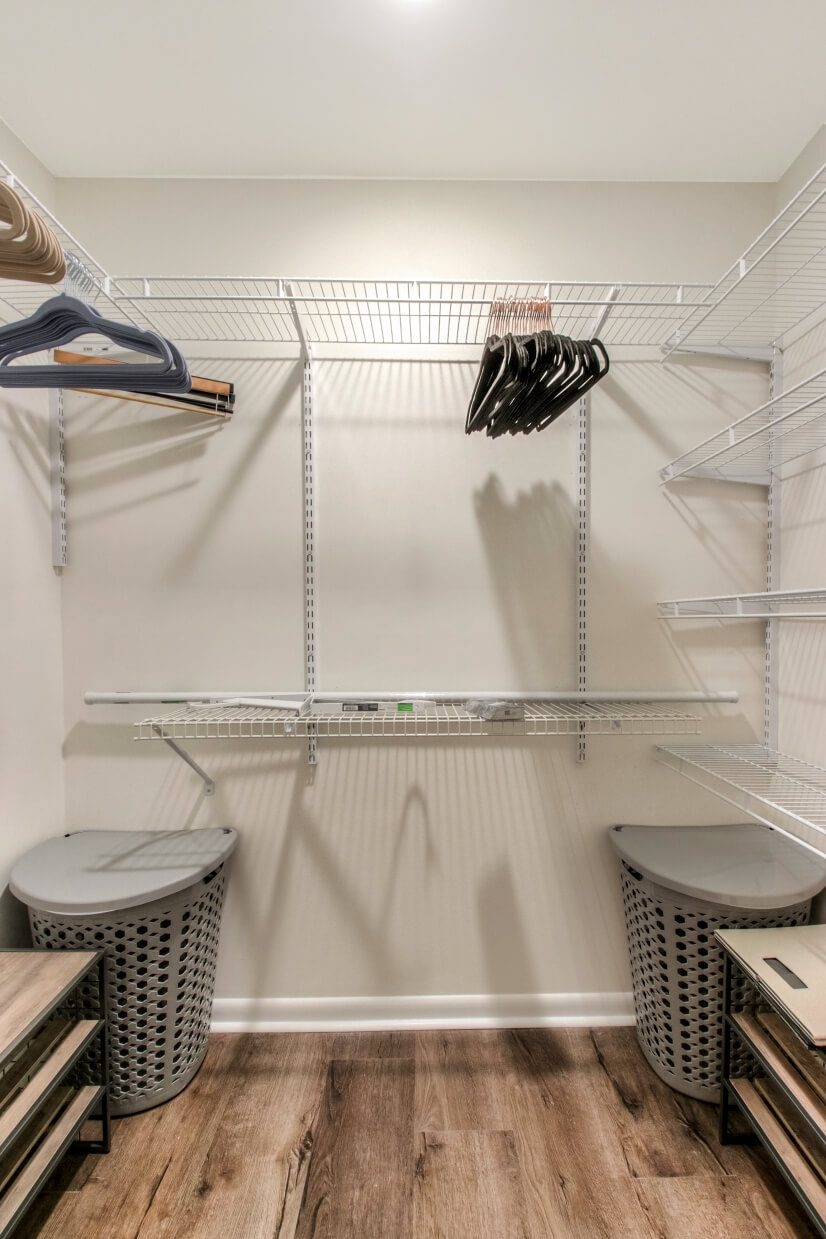 Large closet in Master bath w/ motion lights when door opens