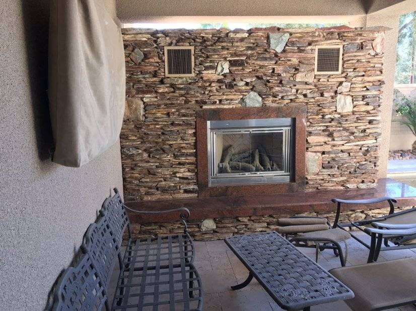 Patio 1 outdoor tv- fireplace