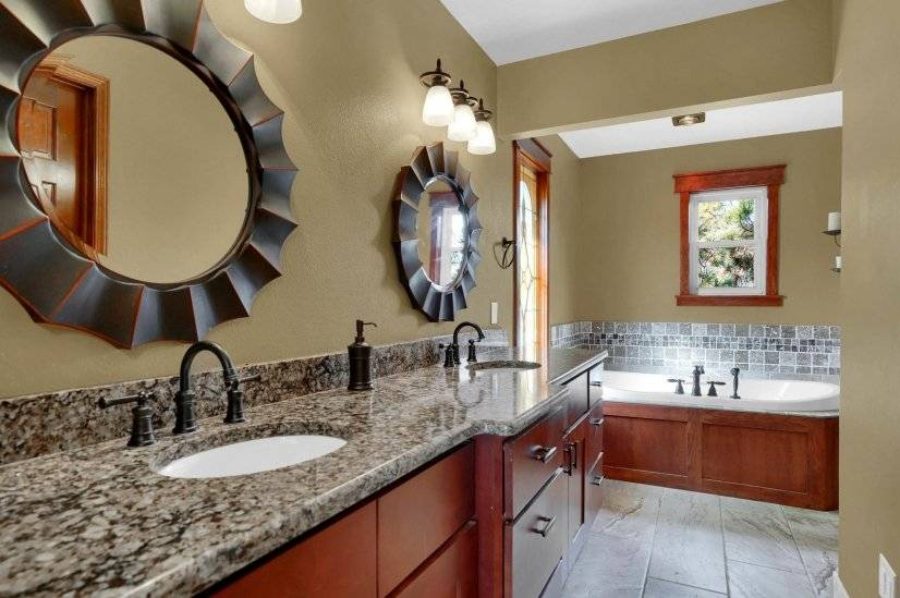 Master Bath:  5 Piece with jetted/bubble tub
