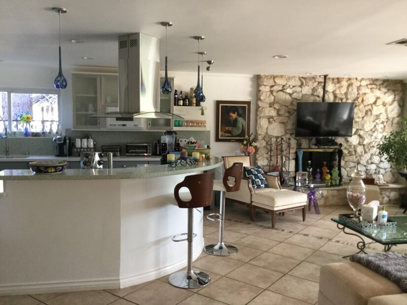 Brand new remodeled kitchen is fully stocked & open concept.