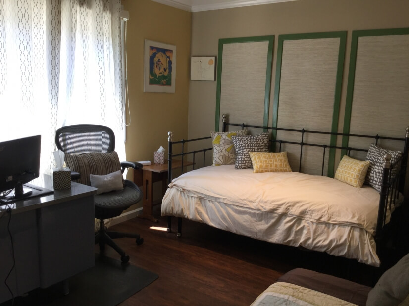 The office/4th bedroom is set up to sleep two teens/children