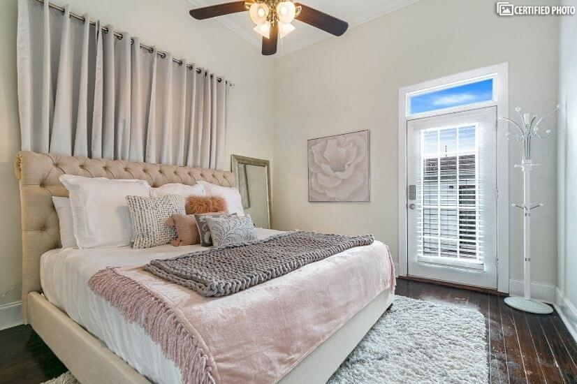 Master with king bed, large closet and on suite bathroom
