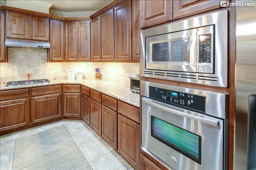 Stainless microwave, oven, & toaster oven