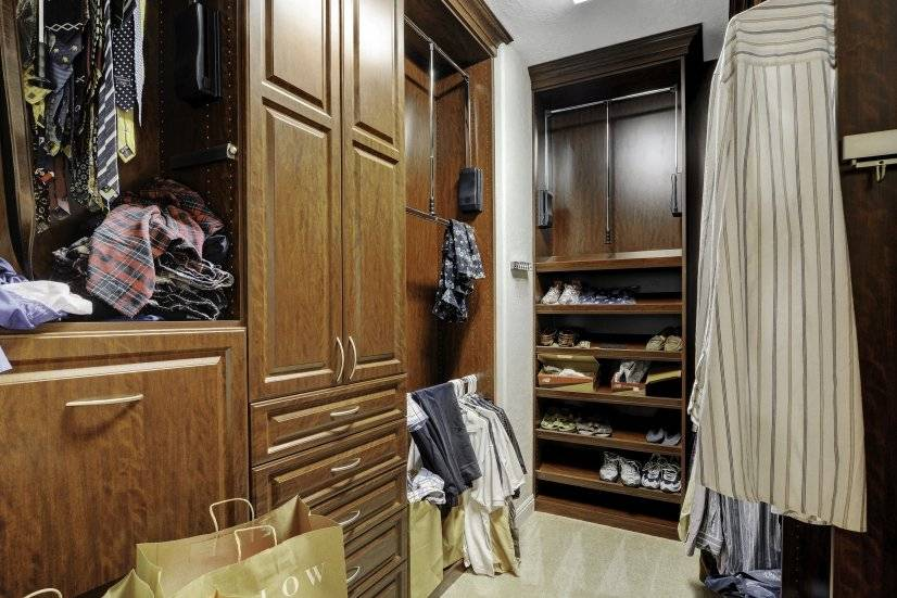 Her walk-in closet more built out