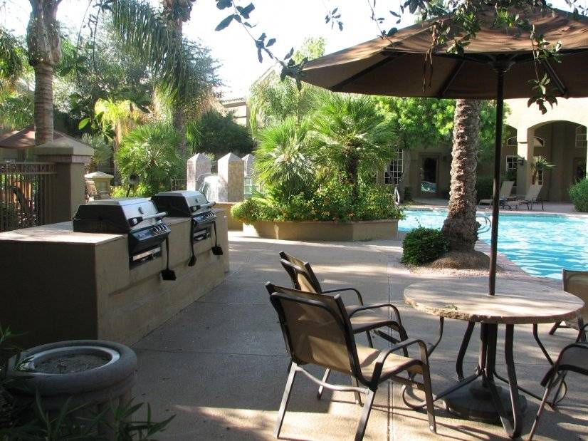 Gas grills, cabanas, lounges and spa all for your enjoyment!
