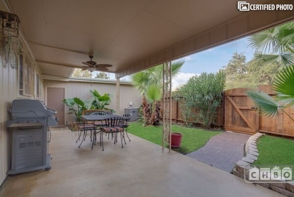 Nice Patio, approximately 20'W x 11'D, covere