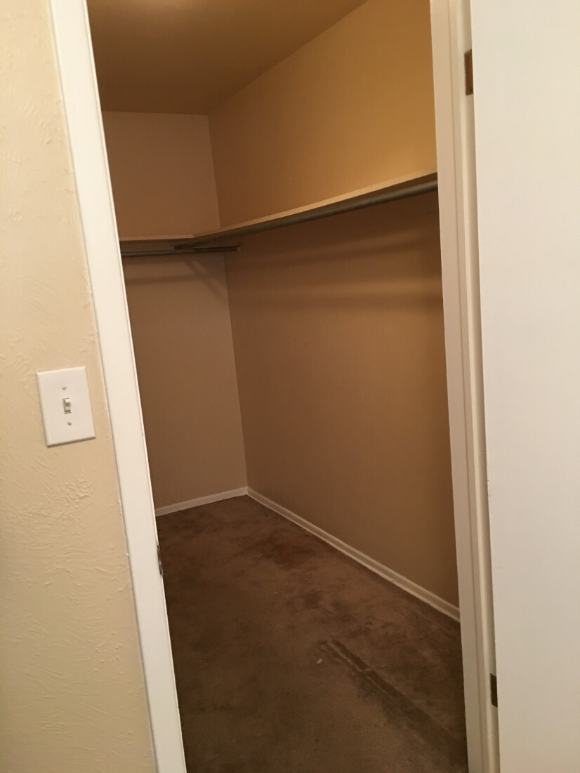 Supersized walk in closet
