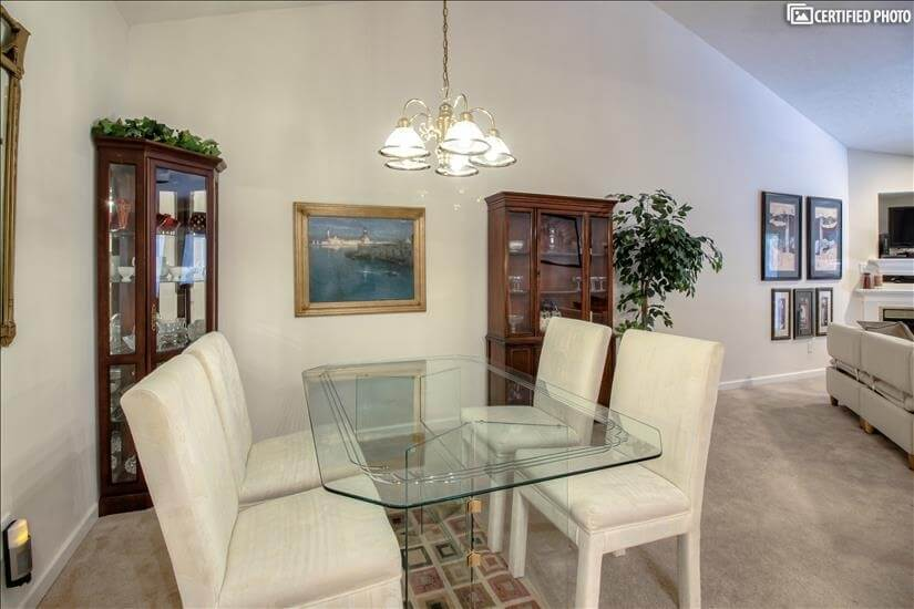 Dining Area with Wet Bar and room for six