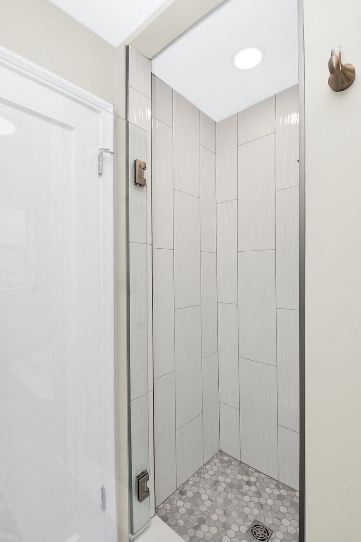 Main Bathroom Shower Euro style glass door