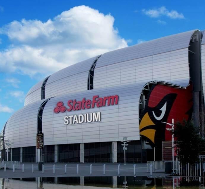 Nearby State Farm Stadium