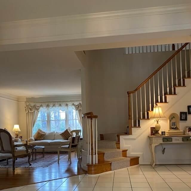 Foyer showing living room