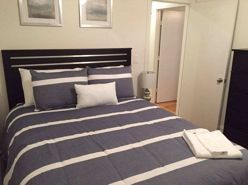 Bedroom 2, queen size bed night stand, dresser