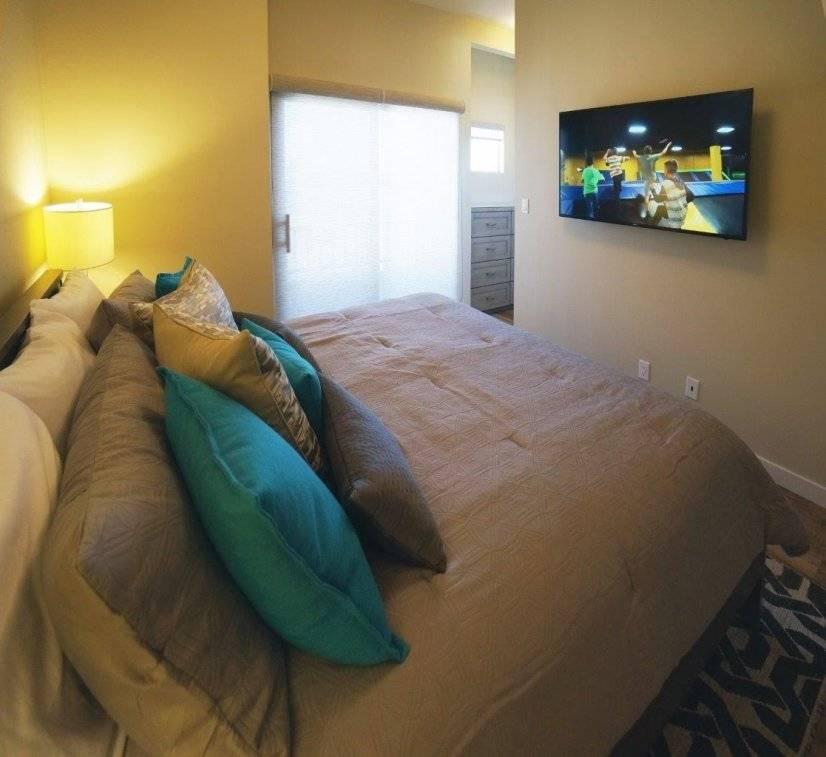 Master Bedroom Facing 55 Inch TV
