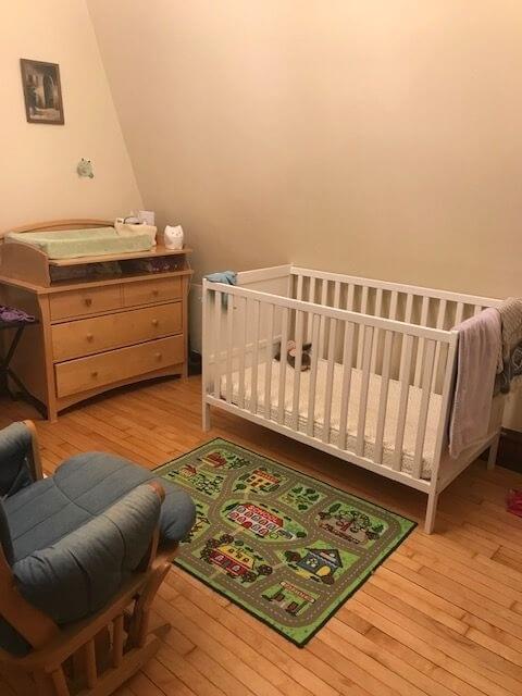 Bedroom as nursery