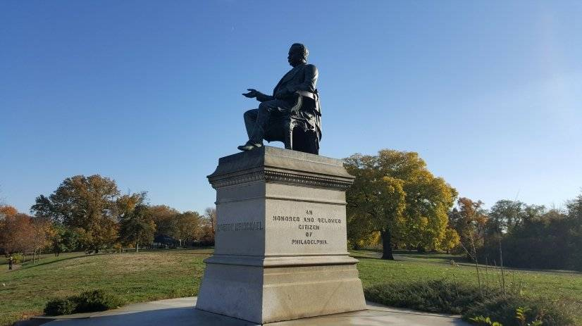 Abraham Lincoln statue - public art in Fairmount Park