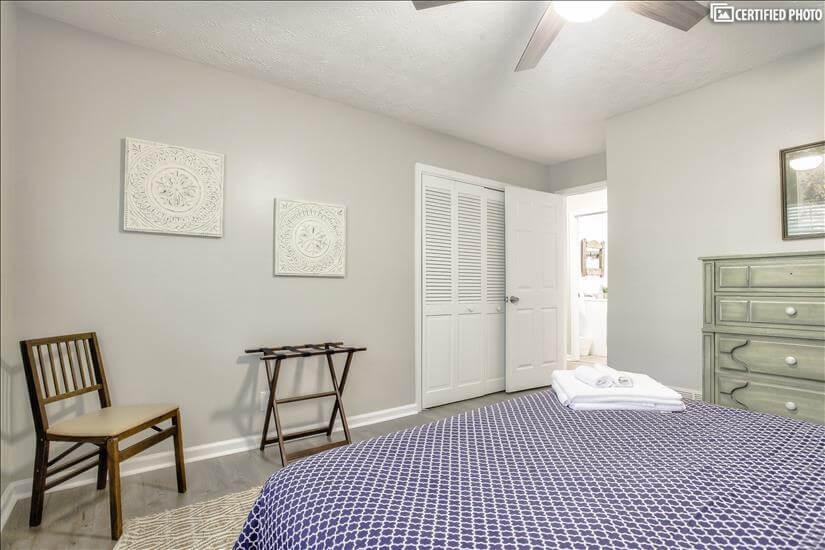Bedroom #2 has right sized closet.