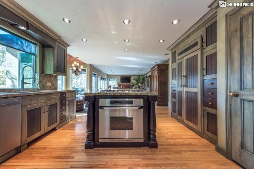 Gourmet kitchen & high-end appliances all with a city view