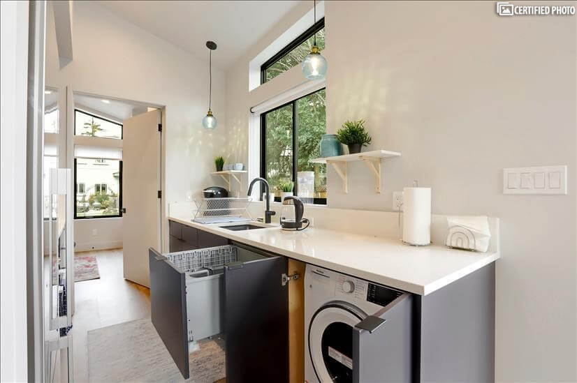 Washer dryer and Dishwasher included