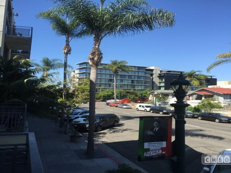 street scene toward Fir St