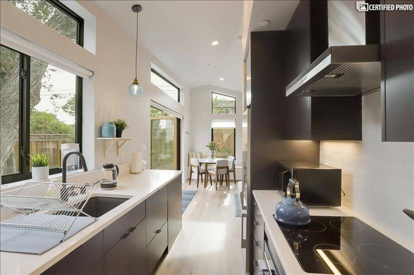 Modern kitchen with high end appliances
