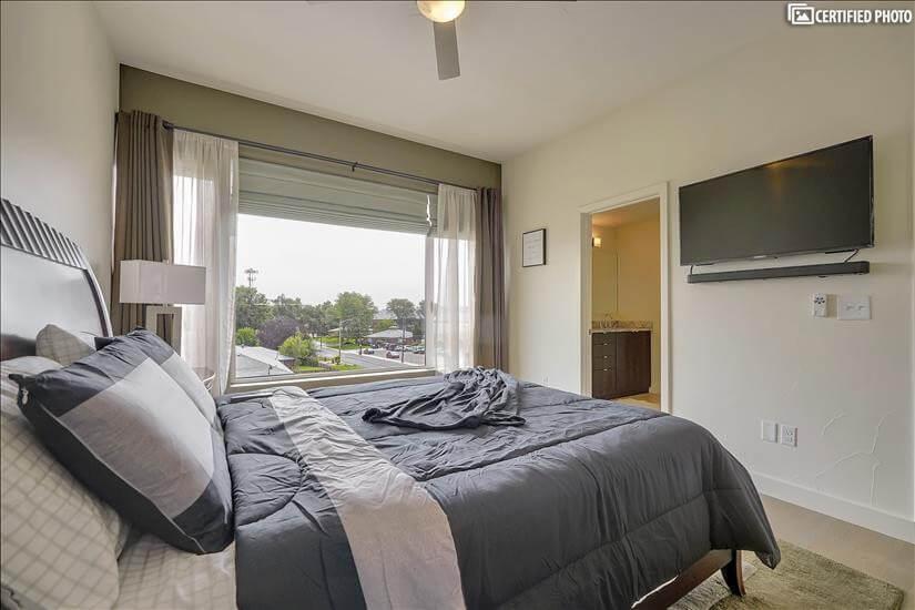 Bedroom 1 w/ TV & Surround Sound