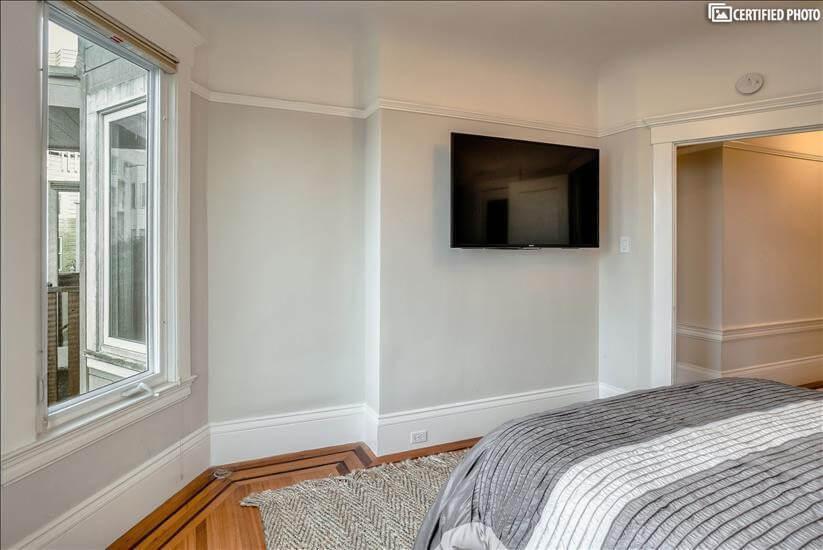 Large LED TV in Bedroom