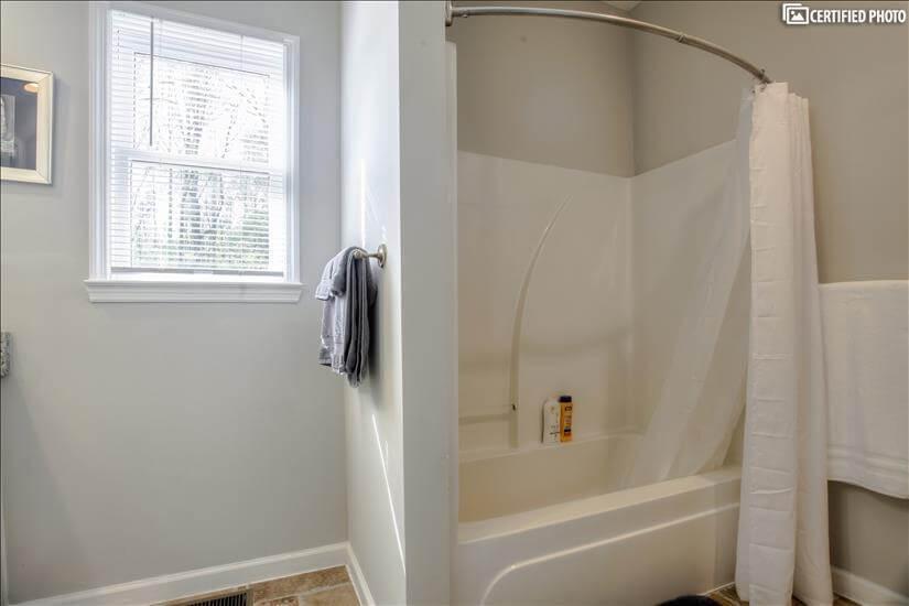 Full bathroom in Master over garage.