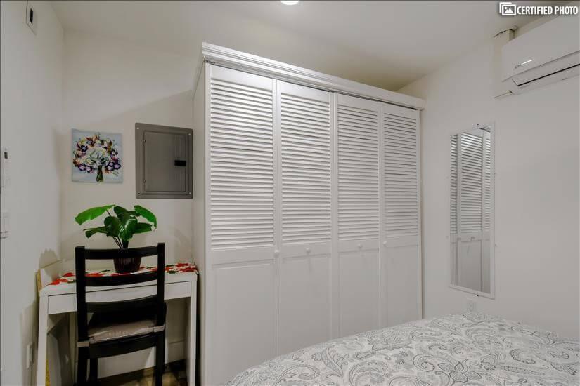 Bedroom Work & Closet Space